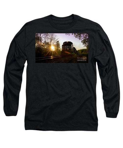 Norfolk And Southern At Sunset Long Sleeve T-Shirt