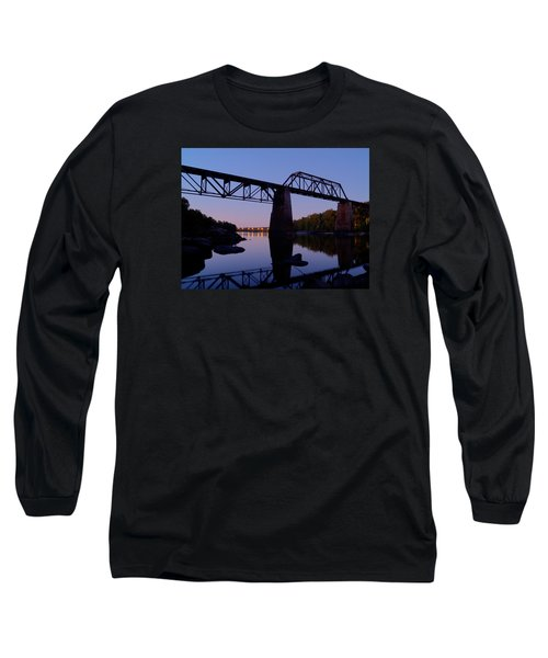 Norfolk-southern Crossing-1 Long Sleeve T-Shirt by Charles Hite