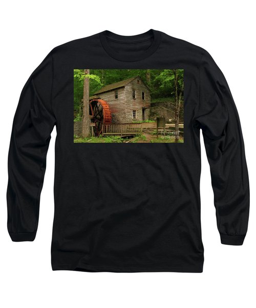 Rice Grist Mill Long Sleeve T-Shirt by Douglas Stucky