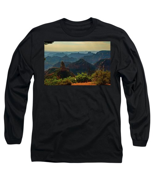 Long Sleeve T-Shirt featuring the photograph North Rim Grand Canyon Imperial Point by Bob and Nadine Johnston