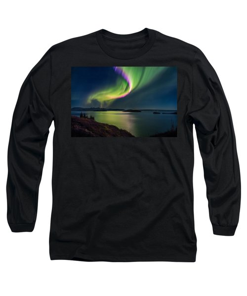 Northern Lights Over Thingvallavatn Or Long Sleeve T-Shirt