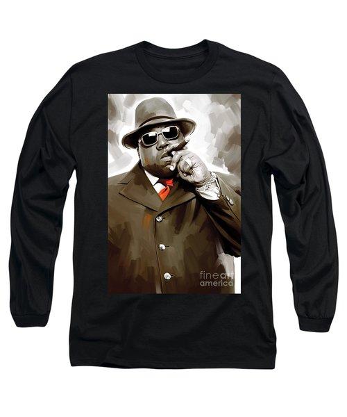 Notorious Big - Biggie Smalls Artwork 3 Long Sleeve T-Shirt