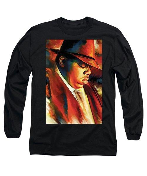 Notorious Big - Biggie Smalls Artwork Long Sleeve T-Shirt