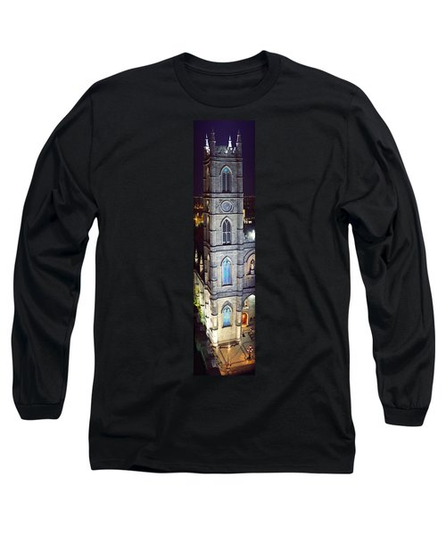 Notre Dame De Montreal At Night Long Sleeve T-Shirt