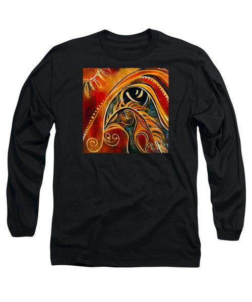 Long Sleeve T-Shirt featuring the painting Nurturer Spirit Eye by Deborha Kerr