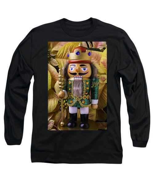 Nutcracker And Poinsettia Long Sleeve T-Shirt