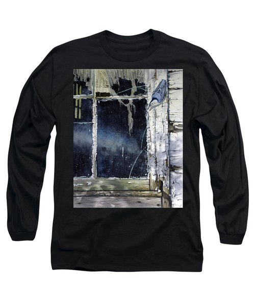 Nuthatch And Window Long Sleeve T-Shirt