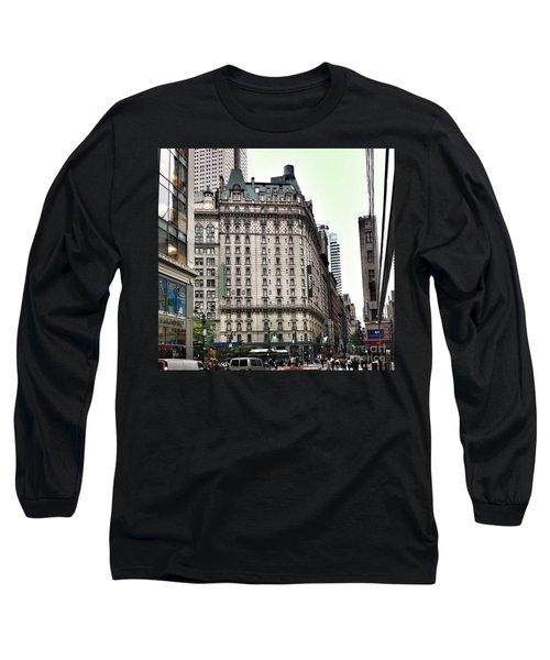 Nyc Radisson Hotel Long Sleeve T-Shirt by Susan Garren