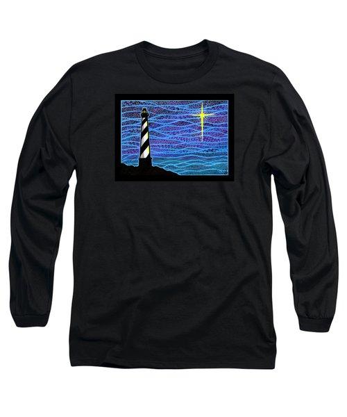 O Holy Night Hatteras Long Sleeve T-Shirt by Jim Harris
