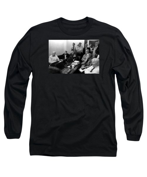 Obama In White House Situation Room Long Sleeve T-Shirt by War Is Hell Store