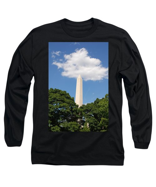 Obelisk Rises Into The Clouds Long Sleeve T-Shirt