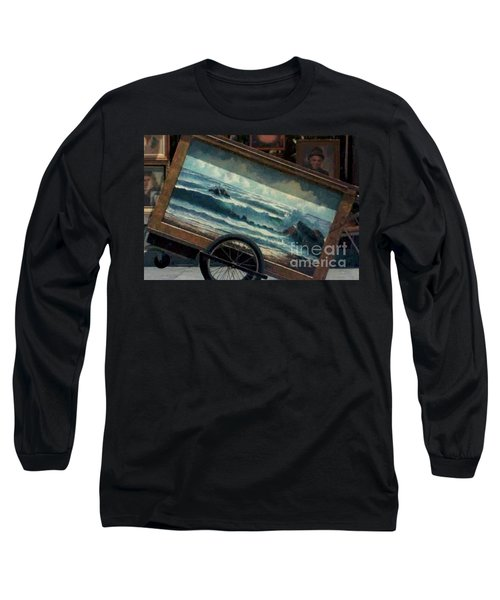 Long Sleeve T-Shirt featuring the photograph Ocean On Wheels Artist Cart At Jackson Square New Orleans La Usa by Michael Hoard