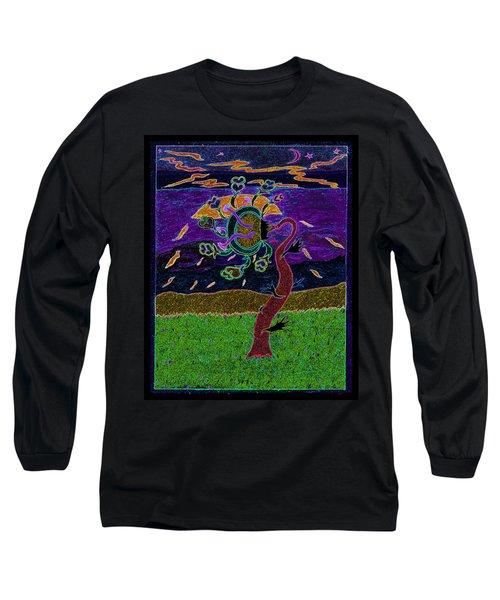 Ocean Side Flower At Sun Set    V3 Long Sleeve T-Shirt