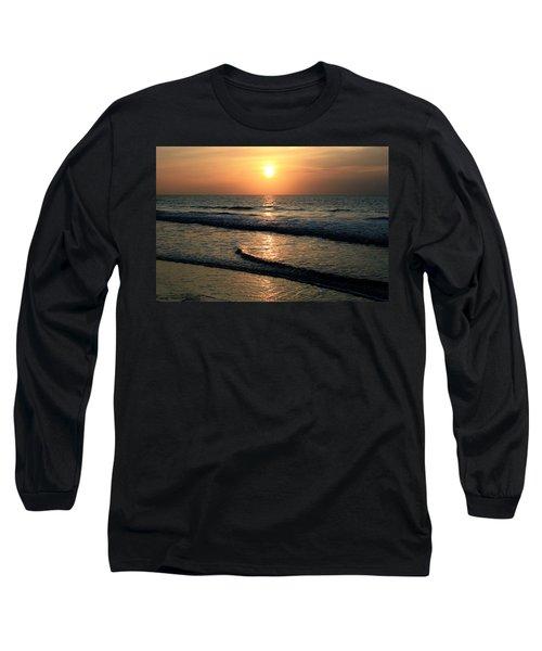 Ocean Sunrise Over Myrtle Beach Long Sleeve T-Shirt