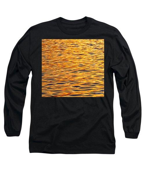 Ocean Sunset Long Sleeve T-Shirt by Carol F Austin