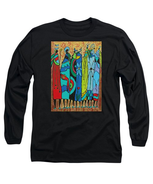 Long Sleeve T-Shirt featuring the painting Oceania by Clarity Artists