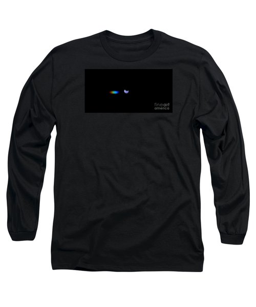 October 2014 Partial Solar Eclipse Long Sleeve T-Shirt by Angela J Wright