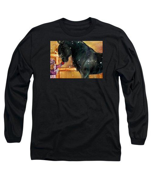 Of Girls And Horses Sold Long Sleeve T-Shirt by Lil Taylor