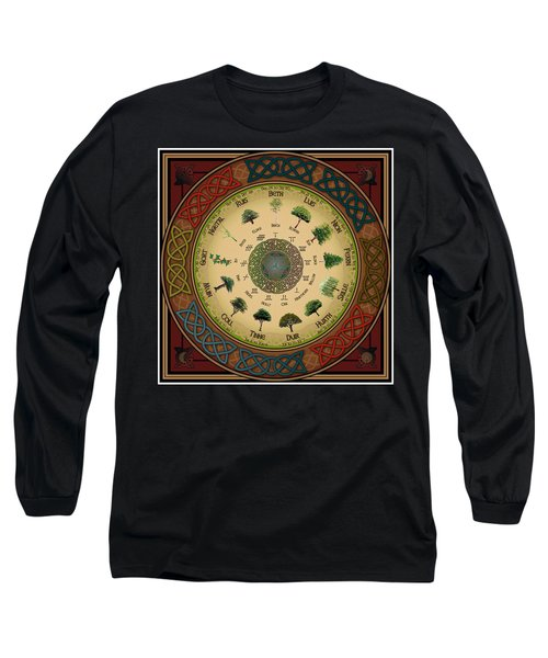 Ogham Tree Calendar Long Sleeve T-Shirt