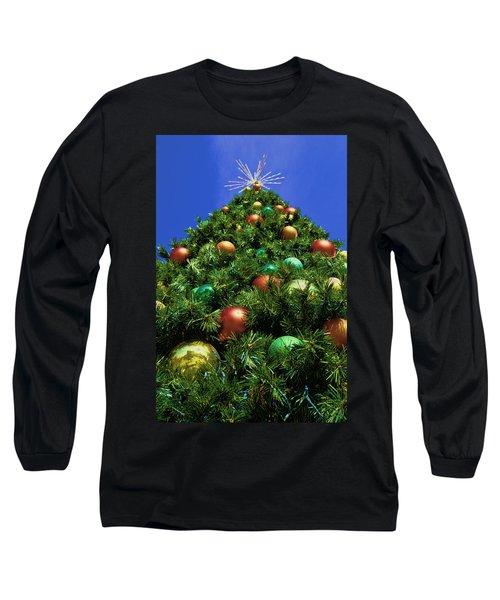 Oh Christmas Tree Long Sleeve T-Shirt by Kathy Churchman