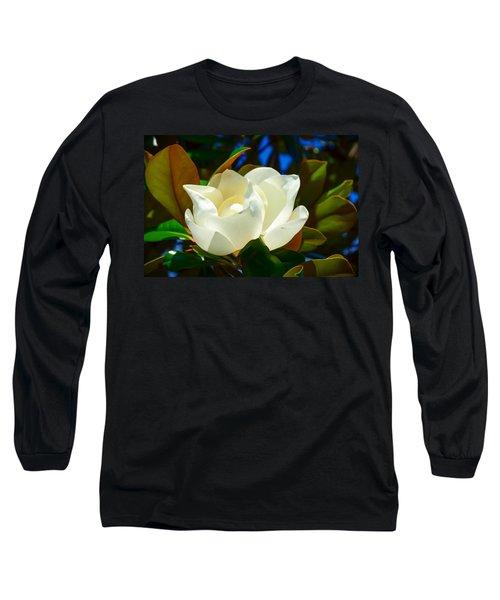 Oh Sweet Magnolia Long Sleeve T-Shirt by Debra Martz