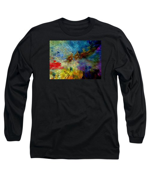 Long Sleeve T-Shirt featuring the painting Oh The Joys Of Santa's Toys by Lisa Kaiser