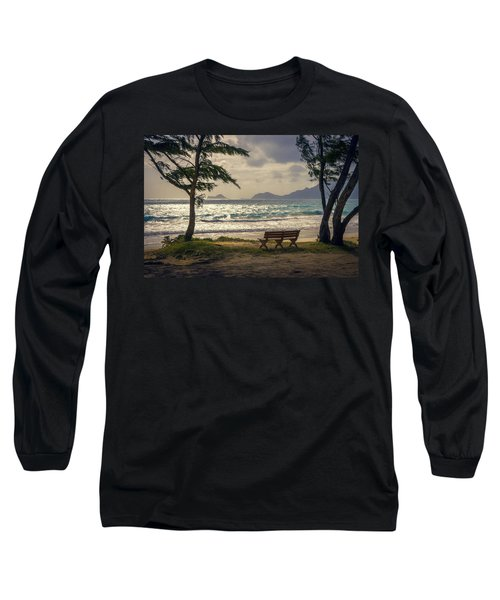 Long Sleeve T-Shirt featuring the photograph Oahu Sunrise by Steven Sparks