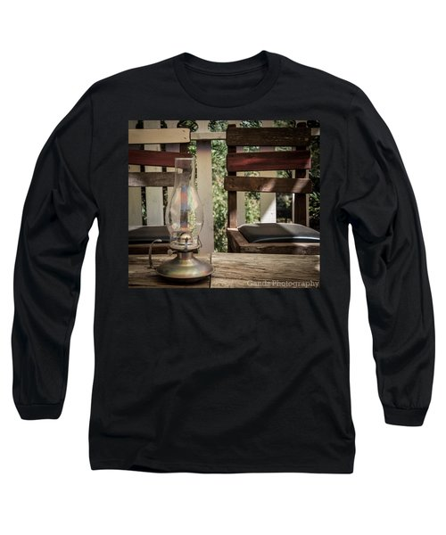 Long Sleeve T-Shirt featuring the digital art Oil Lamp 2 by Gandz Photography