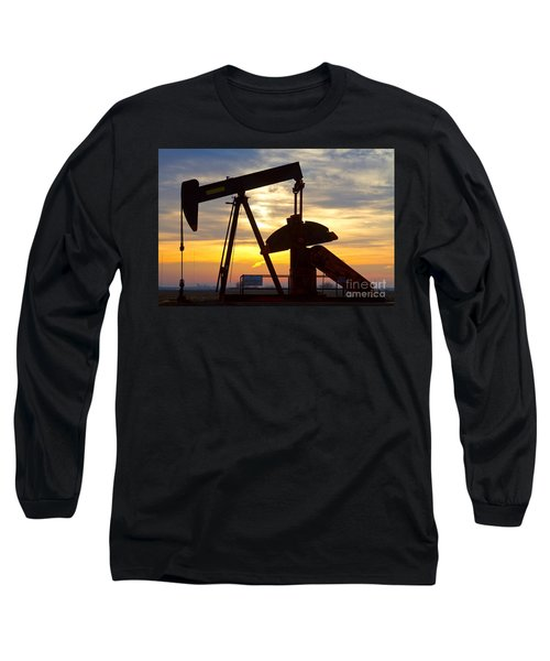 Oil Pump Sunrise Long Sleeve T-Shirt