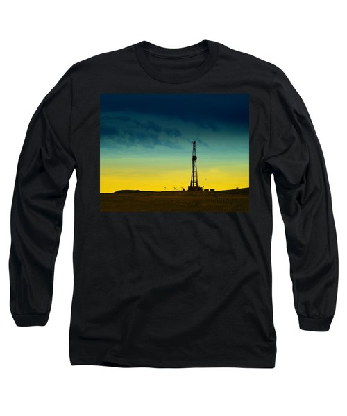 Oil Rig In The Spring Long Sleeve T-Shirt