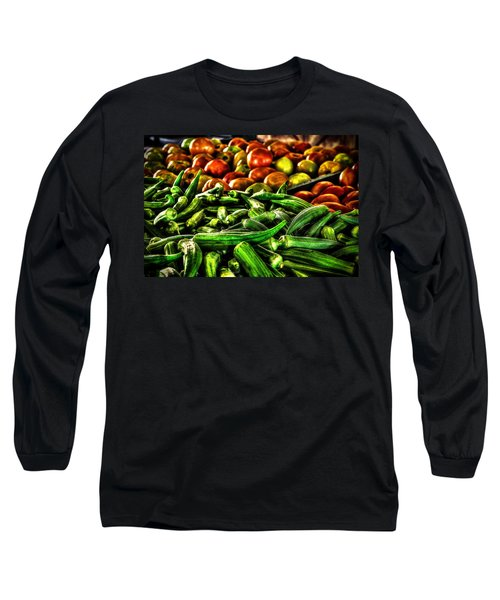 Okra And Tomatoes Long Sleeve T-Shirt