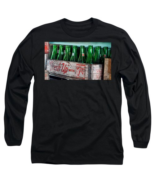 Old 7 Up Bottles Long Sleeve T-Shirt by Thomas Woolworth
