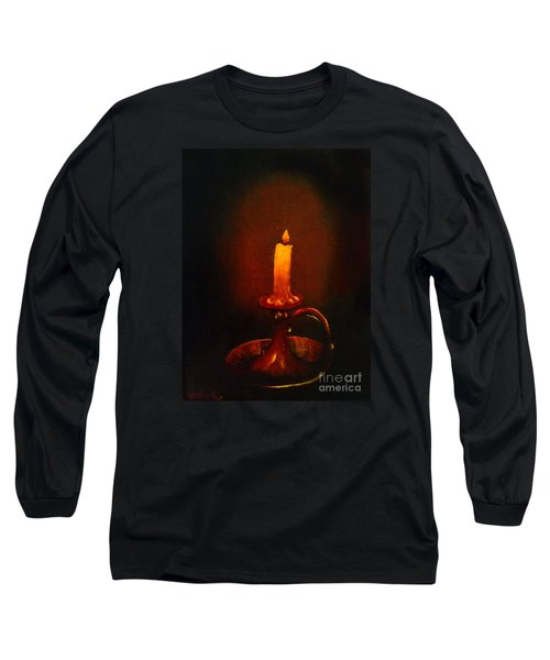 Old Candle Stick Painting Long Sleeve T-Shirt by Becky Lupe