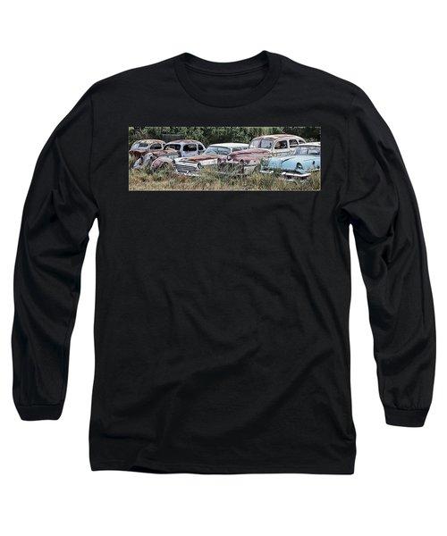 Old Car Graveyard Long Sleeve T-Shirt