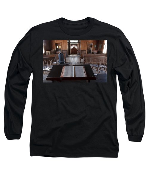 Old Church From Pulpit Long Sleeve T-Shirt
