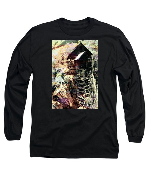 Long Sleeve T-Shirt featuring the photograph Old Crystal Mill Crystal Colorado by Paula Ayers