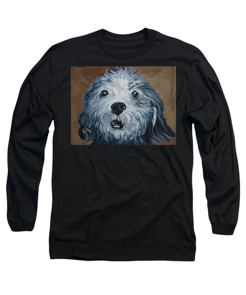 Long Sleeve T-Shirt featuring the painting Old Dogs Are The Best Dogs by Leslie Manley