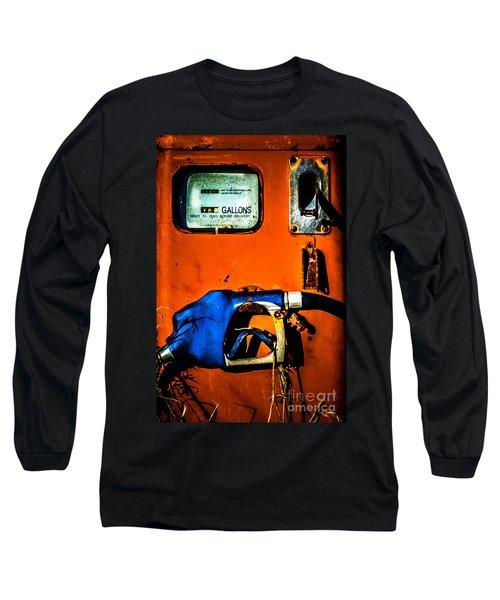 Old Farm Gas Pump Long Sleeve T-Shirt