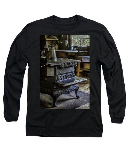 Old Farm Kitchen And Wood Burning Stove Long Sleeve T-Shirt