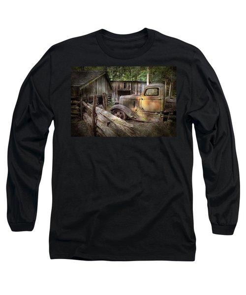 Old Farm Pickup Truck Long Sleeve T-Shirt