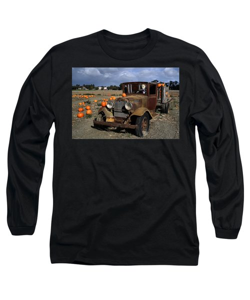 Long Sleeve T-Shirt featuring the photograph Old Farm Truck by Michael Gordon