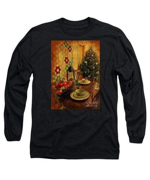Long Sleeve T-Shirt featuring the photograph Old Fashion Christmas At Atalaya by Kathy Baccari