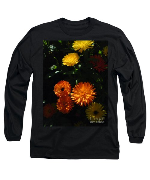 Long Sleeve T-Shirt featuring the photograph Old-fashioned Marigolds by Martin Howard