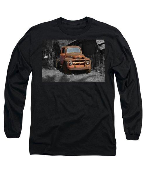 Old Ford Truck Long Sleeve T-Shirt by Richard J Cassato