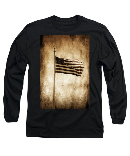 Long Sleeve T-Shirt featuring the photograph Old Glory by Aaron Berg