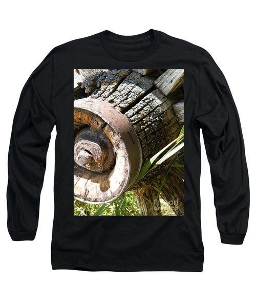 Long Sleeve T-Shirt featuring the photograph Old Hub by Ann E Robson