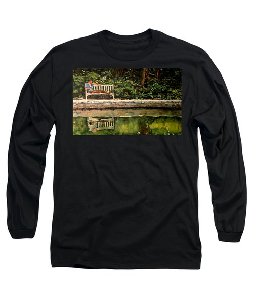 Old Man On A Bench Long Sleeve T-Shirt