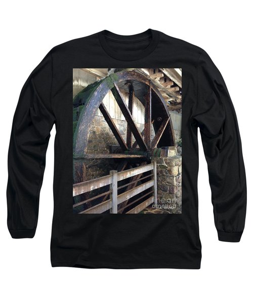 Long Sleeve T-Shirt featuring the photograph Old Mill Water Wheel by Jeannie Rhode