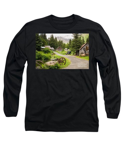 Old Mining Alaskan Town Long Sleeve T-Shirt