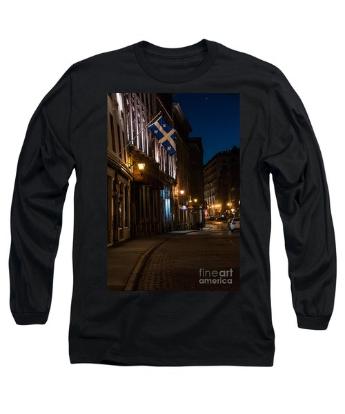 Old Montreal At Night Long Sleeve T-Shirt